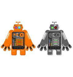 Big robot cartoon vector