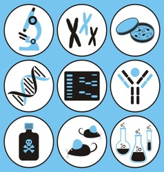 Biology science icons vector