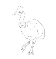 bird dinosaur drawing lines vector image