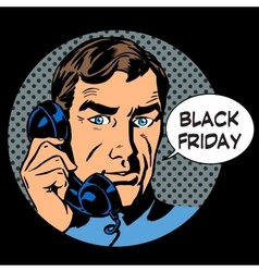 Black Friday support by phone vector image