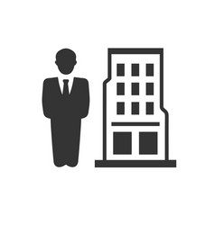 Business building icon vector