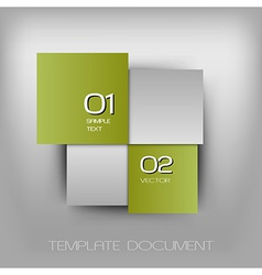 Business four squares light green with text vector