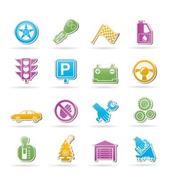 car and transportation icons vector image