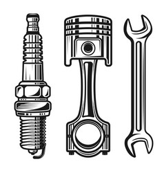 Car or motorcycle repair parts objects vector
