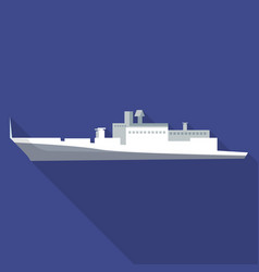 cargo passenger ship icon flat style vector image