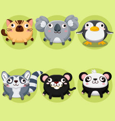 Cartoon and cute animals vector image
