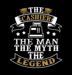 Cashier man myth legend vector