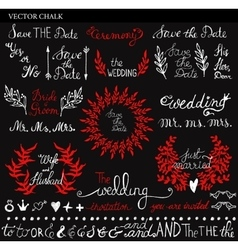 Chalk Wedding Save the Date lettering vector