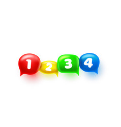 chat sign colored information numbers design vector image