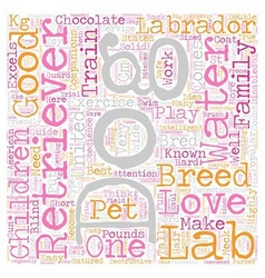 Chocolate labrador 33 text background wordcloud vector