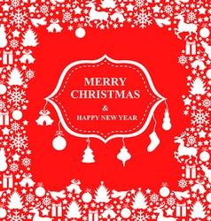 Christmas decor sign vector