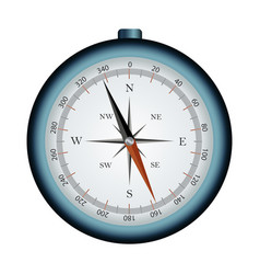 compass isolated object vector image