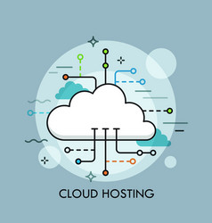 Concept of cloud computing service or technology vector