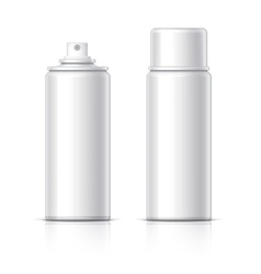 Cosmetic glass bottle can sprayer container vector image
