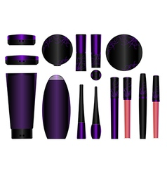 cosmetics set 4 vector image