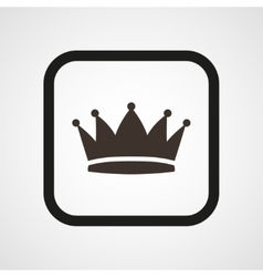 Crown Icon Flat Simple vector