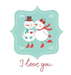 Cute frosties kissing vector image
