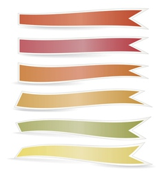 Decorative color ribbons vector image
