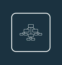 diagram icon line symbol premium quality isolated vector image