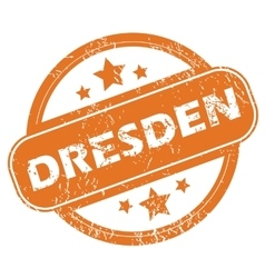 Dresden round stamp vector
