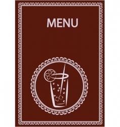 drinks menu vector image vector image