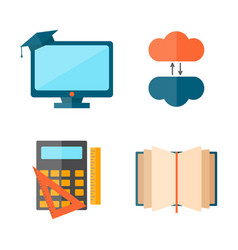 education and school web icon vector image