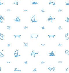 extreme icons pattern seamless white background vector image