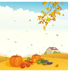Fall crop vector image