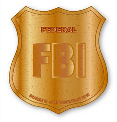 fbi spoof shield badge vector image