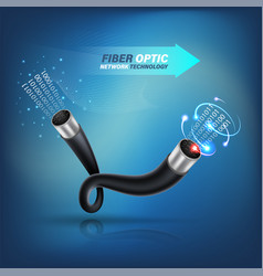 fiber optic cable vector image