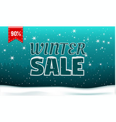 Final winter sale concept banner realistic style vector