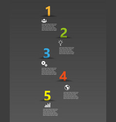 five color numbers template with place for your vector image