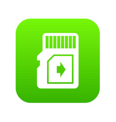 Flash drive icon green vector