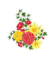flower bouquet floral frame flourish greeting vector image