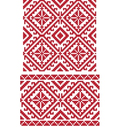 Folk ukrainian pattern vector image