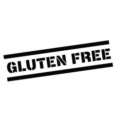 gluten free rubber stamp vector image