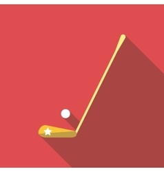 Golf club and a ball icon flat style vector