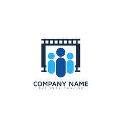 group video logo icon design vector image