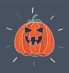 halloween scary jack vector image