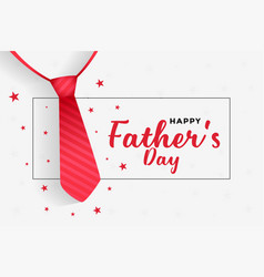 Happy fathers day background with red tie design vector