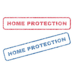 Home protection textile stamps vector