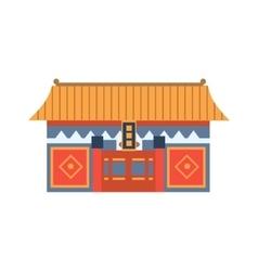 Hung Shing Temple In Hong Kong China Simplified vector image