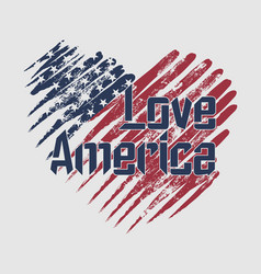 i really love america design template vector image
