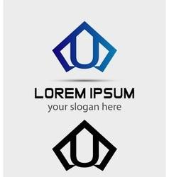 Letter U logo icon design template vector image