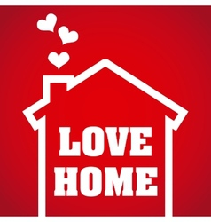 love home design vector image