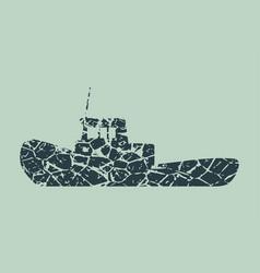 Marine tug icon vector