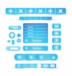 menu buttons vector image