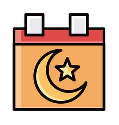 Muslim calendar eid mubarak islamic religious vector