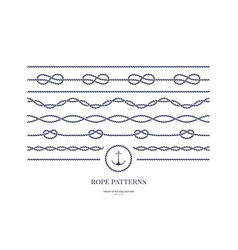 Nautical rope frames and bordes vector