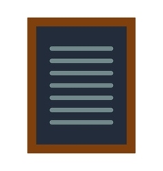Notebook document checklist test vector image